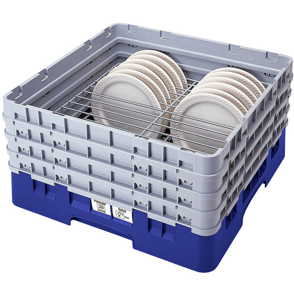 "Blue, Full Size Dish Rack, 10 To 11"" Plates"