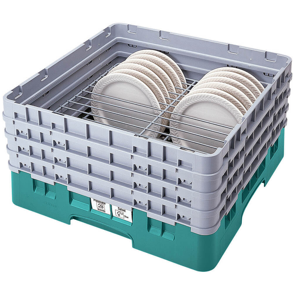 "Teal, Full Size Dish Rack, 10-1/2 To 12-1/2"" Plates"