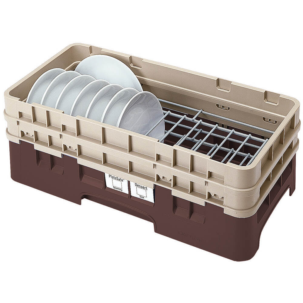 "Brown, Half Size Dish Rack, 5 To 6-7/8"" Plates"