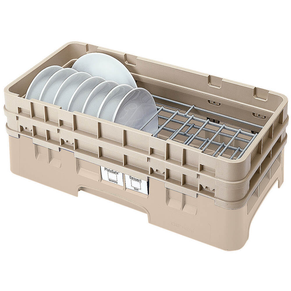 "Beige, Half Size Dish Rack, 5 To 6-7/8"" Plates"