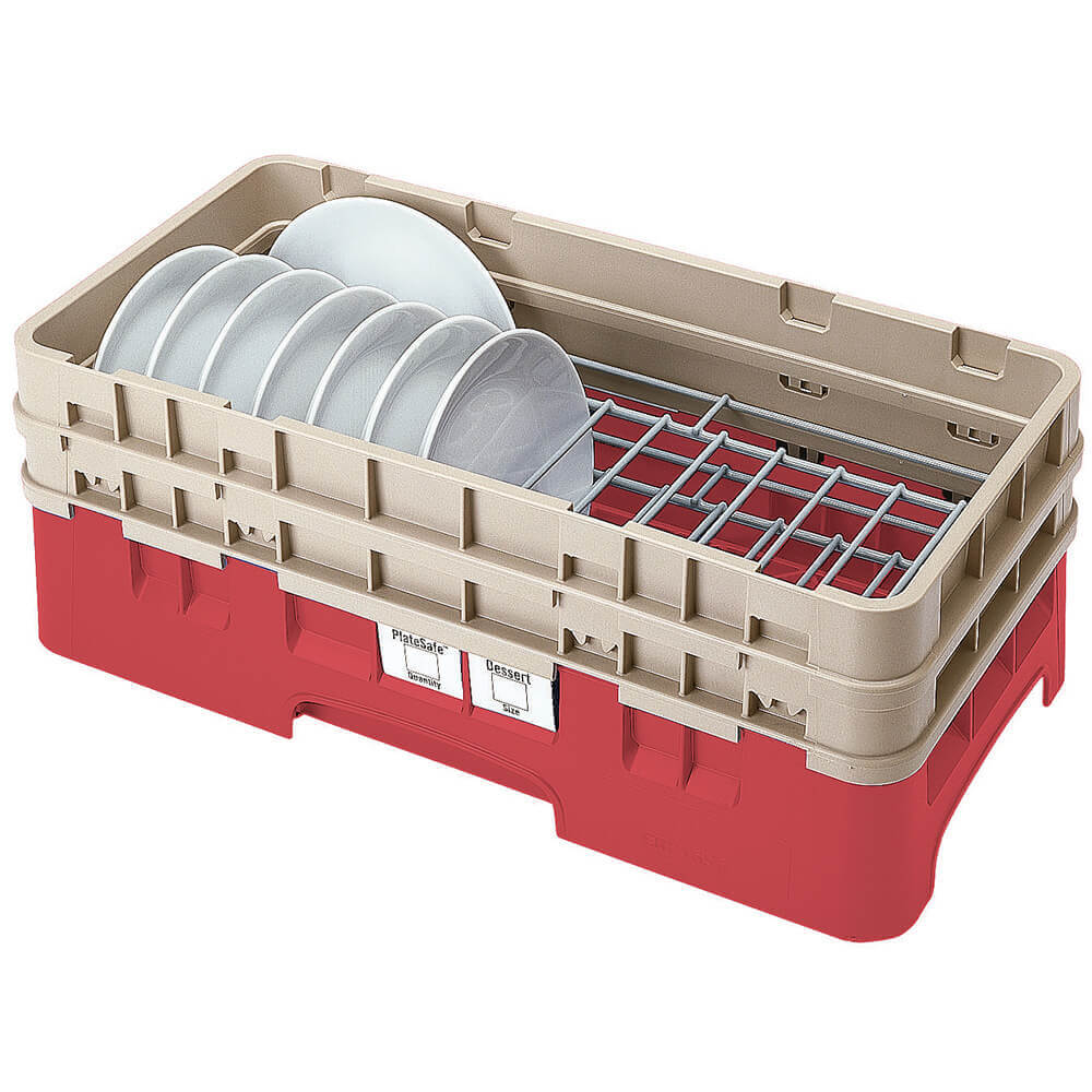 "Cranberry, Half Size Dish Rack, 5 To 6-7/8"" Plates"