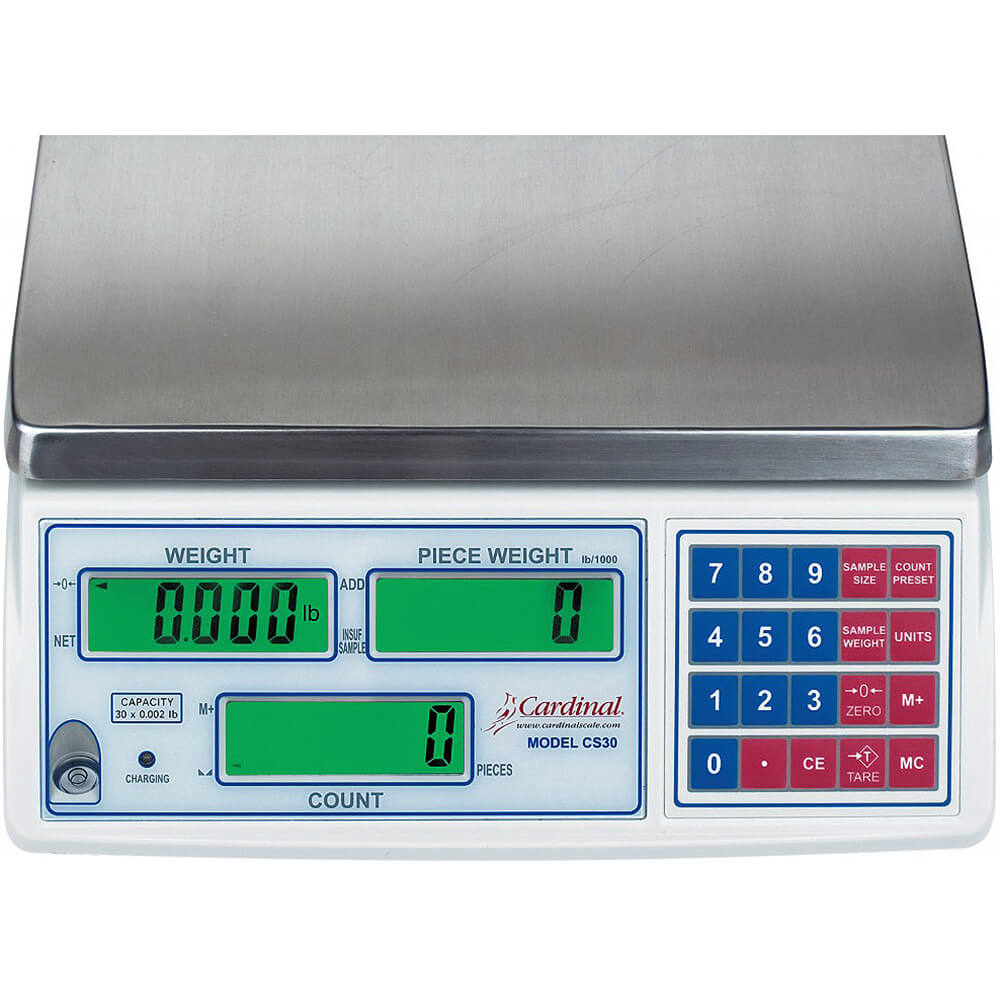 cardinal digital counting scale w rechargeable battery 65 lb c65 rh deiequipment com Detecto Scales Industrial Scale