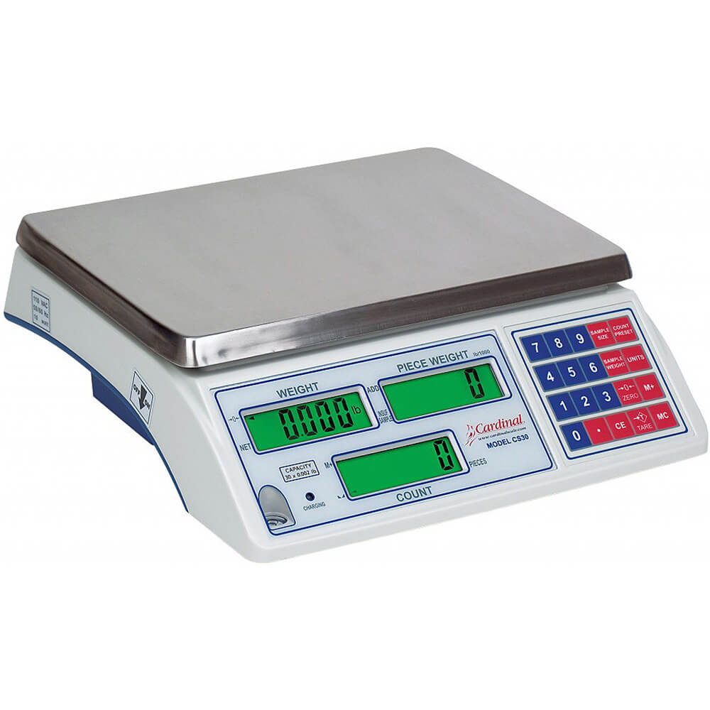cardinal digital counting scale w rechargeable battery 65 lb c65 rh deiequipment com Industrial Scale Floor Scale