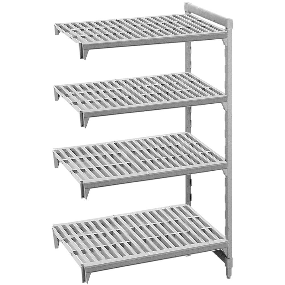 "Speckled Gray, Camshelving Add-on Unit, 42"" x 24"" x 64"", 4 Shelves"