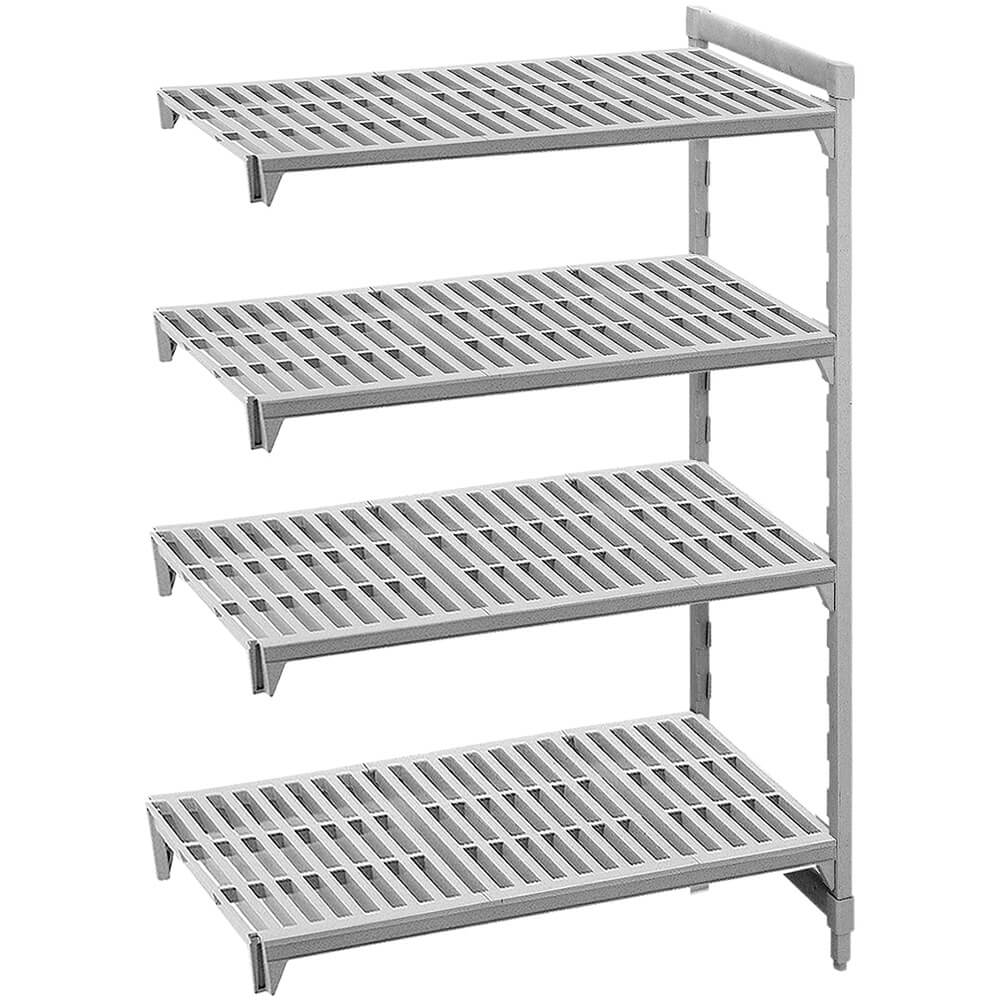 "Speckled Gray, Camshelving Add-on Unit, 48"" x 21"" x 72"", 4 Shelves"