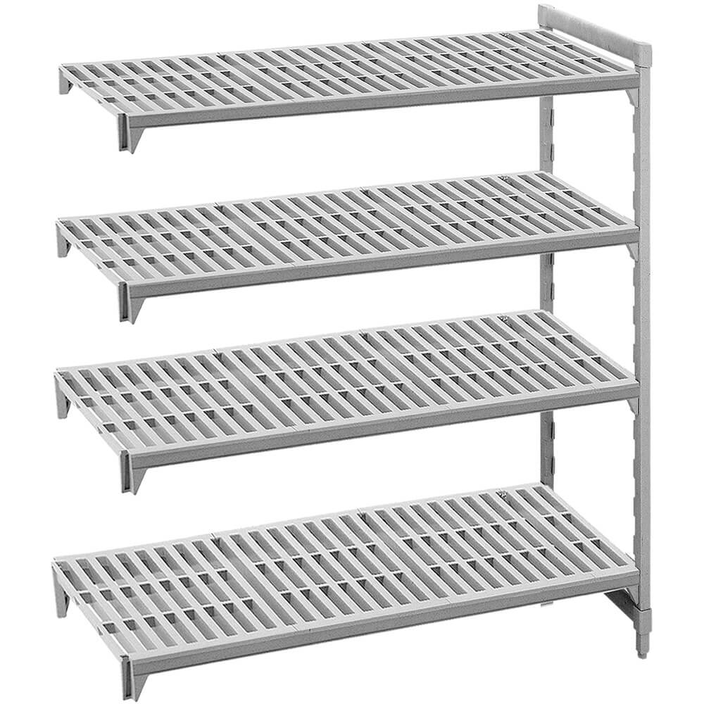 "Speckled Gray, Camshelving Add-on Unit, 60"" x 24"" x 72"", 4 Shelves"