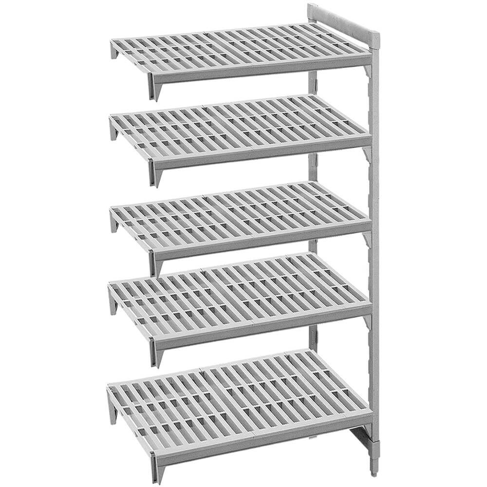 "Speckled Gray, Camshelving Add-on Unit, 36"" x 18"" x 72"", 5 Shelves"