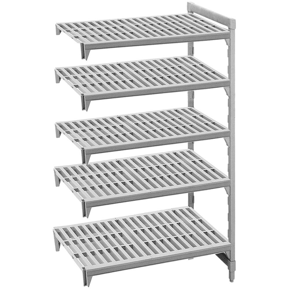 "Speckled Gray, Camshelving Add-on Unit, 42"" x 18"" x 64"", 5 Shelves"