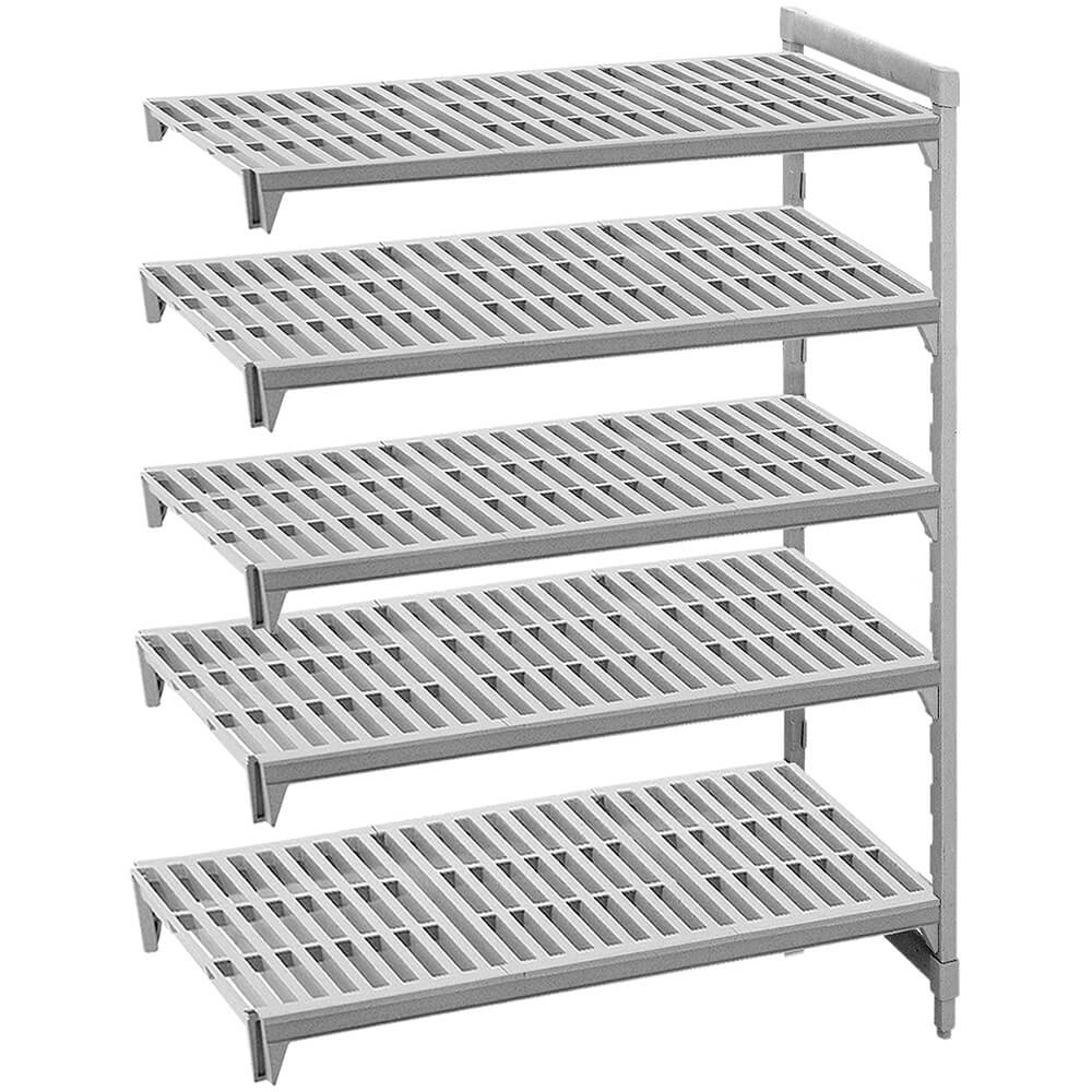 "Speckled Gray, Camshelving Add-on Unit, 54"" x 18"" x 72"", 5 Shelves"