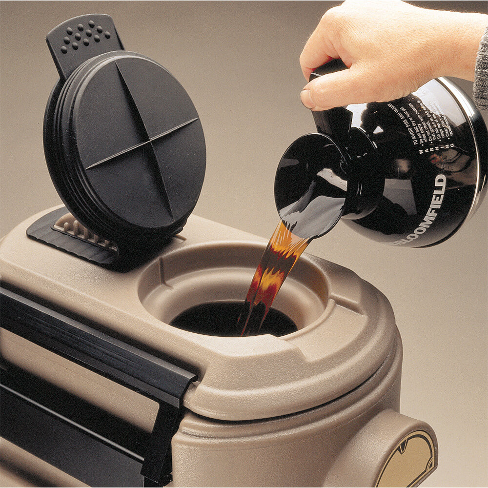 Black, 3 Gal. Hot Beverage Dispenser, Coffee / Tea View 3
