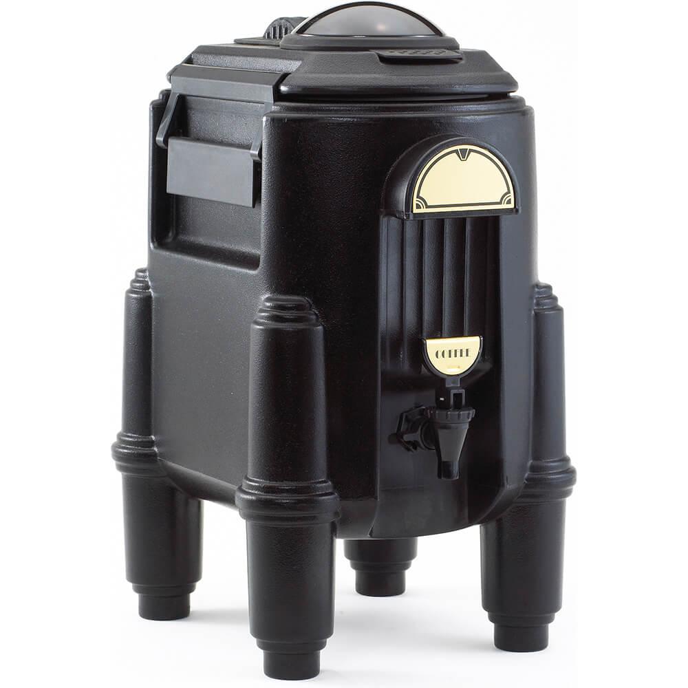 Black, 3 Gal. Hot Beverage Dispenser, Coffee / Tea