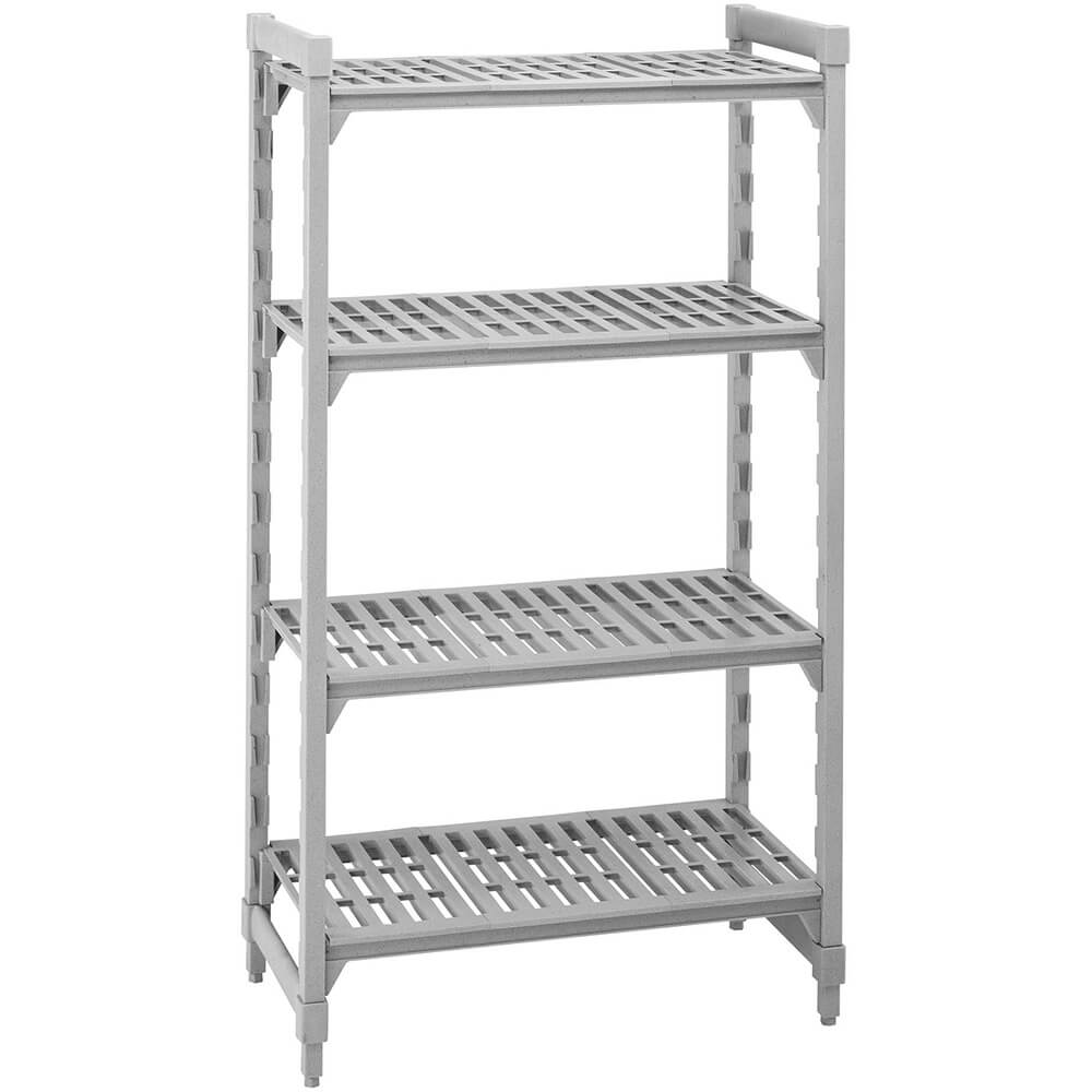 "Speckled Gray, Shelving Starter Unit, 36"" x 18"" x 64"", 4 shelves"