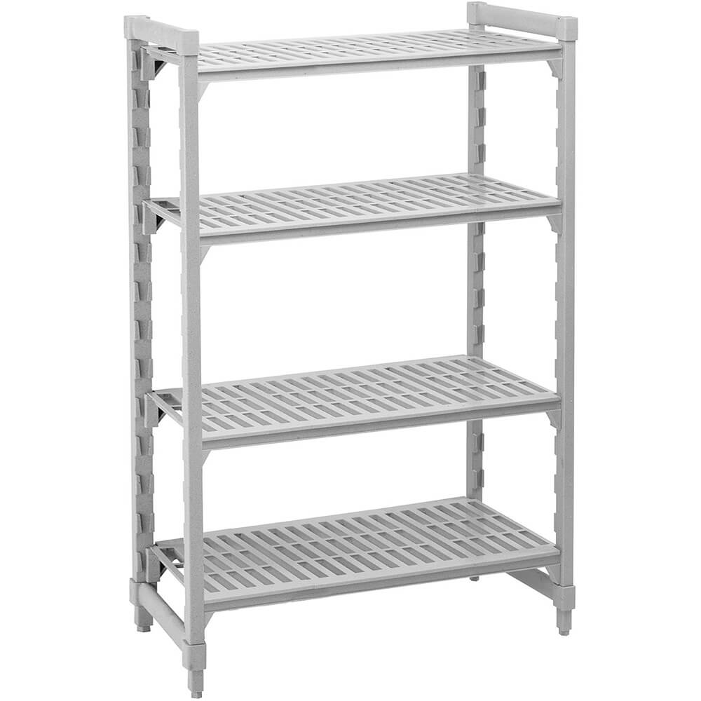 "Speckled Gray, Shelving Starter Unit, 42"" x 24"" x 72"", 4 shelves"