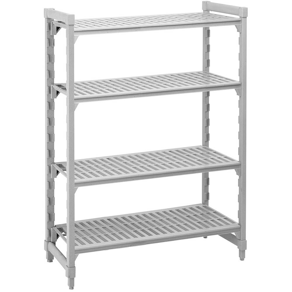 "Speckled Gray, Shelving Starter Unit, 48"" x 21"" x 72"", 4 shelves"