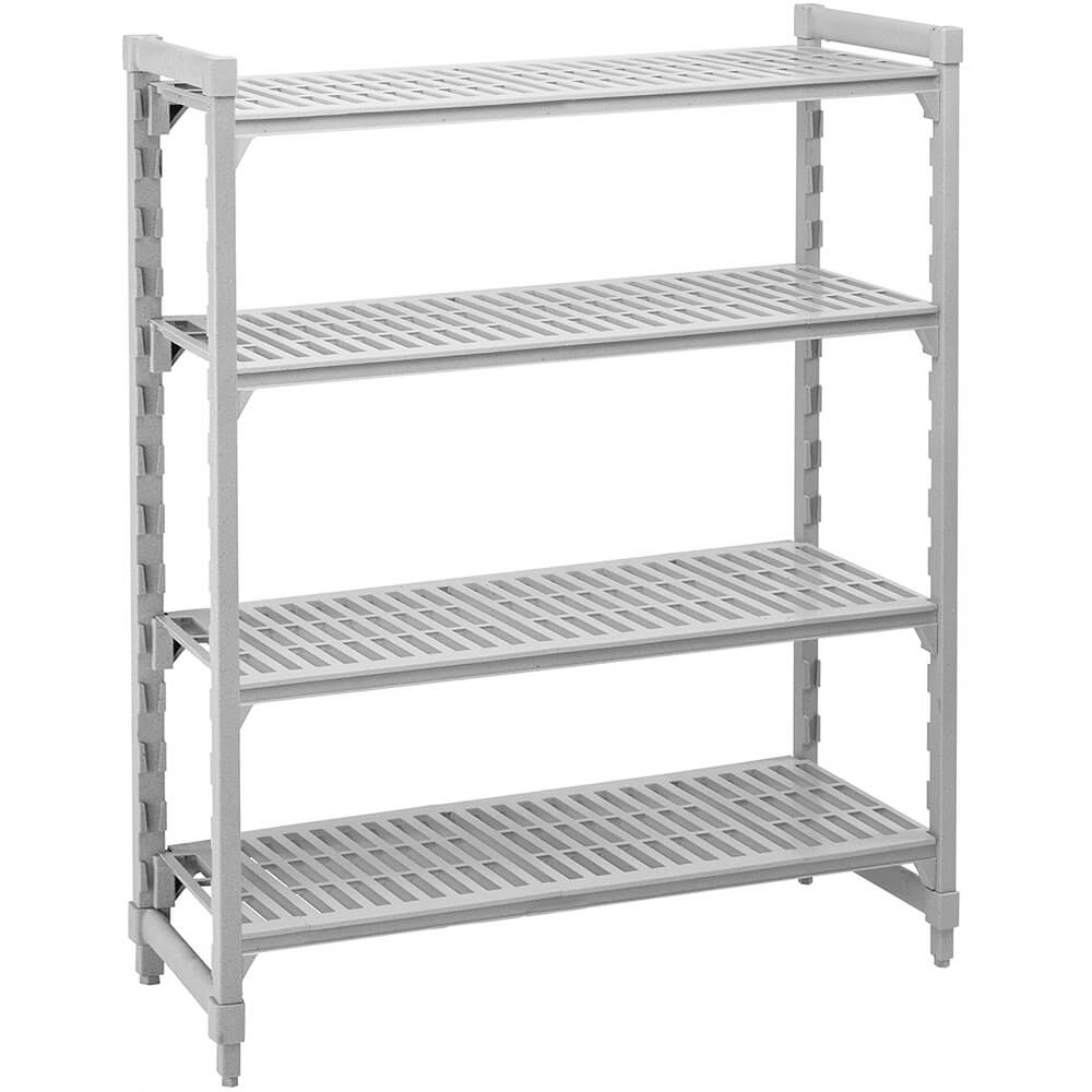 "Speckled Gray, Shelving Starter Unit, 54"" x 21"" x 64"", 4 shelves"