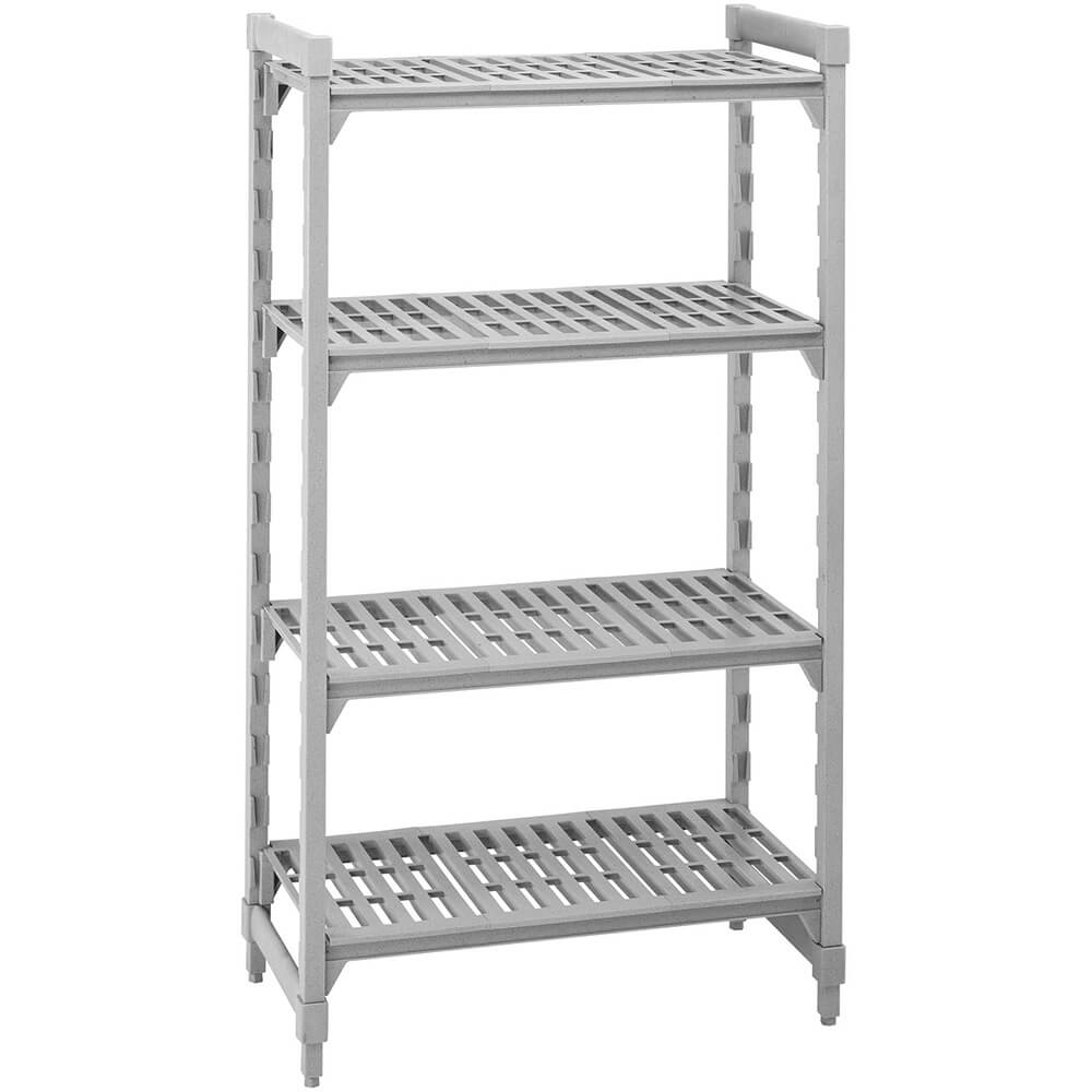 "Speckled Gray, Shelving Starter Unit, 36"" x 21"" x 72"", 5 shelves"