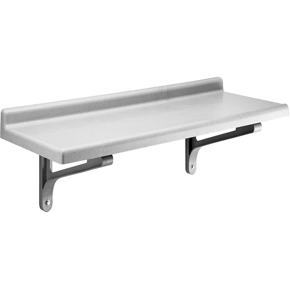 "Speckled Gray, 14"" x 48"" Wall Shelf, Solid, 1/PK"