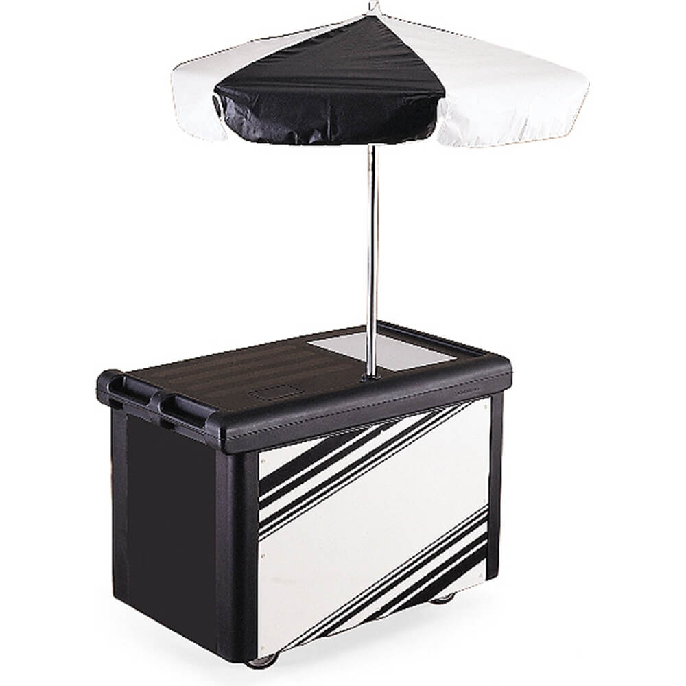 Black, Camcruiser Vending Cart with Umbrella
