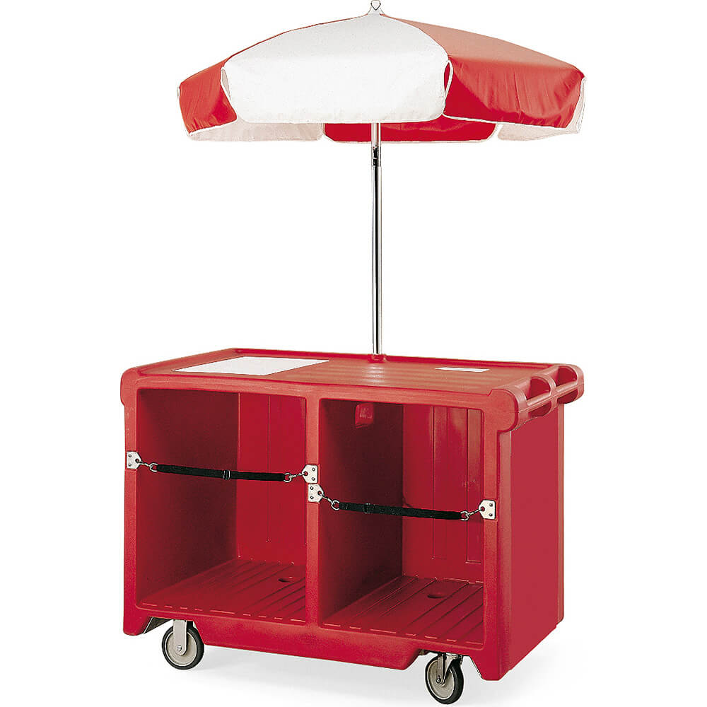 Granite Gray, Camcruiser Vending Cart with Umbrella View 2