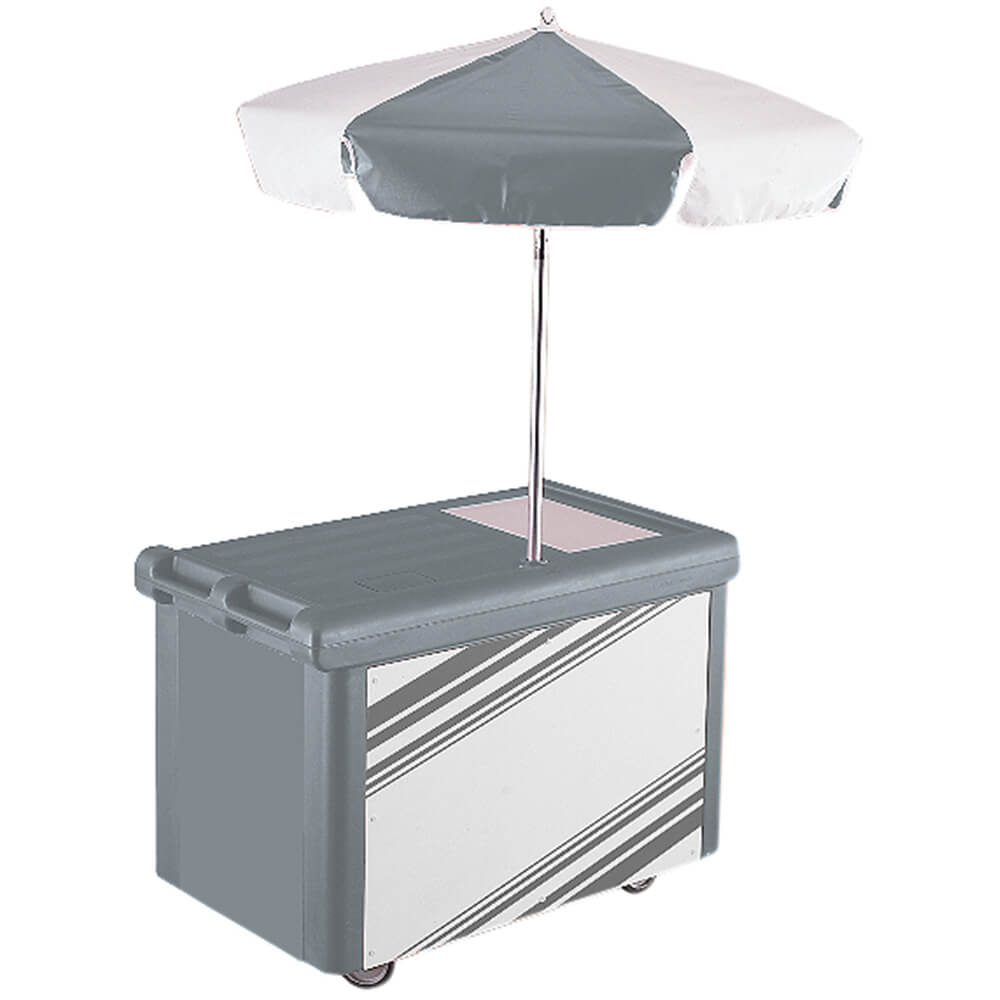 Granite Gray, Camcruiser Vending Cart with Umbrella
