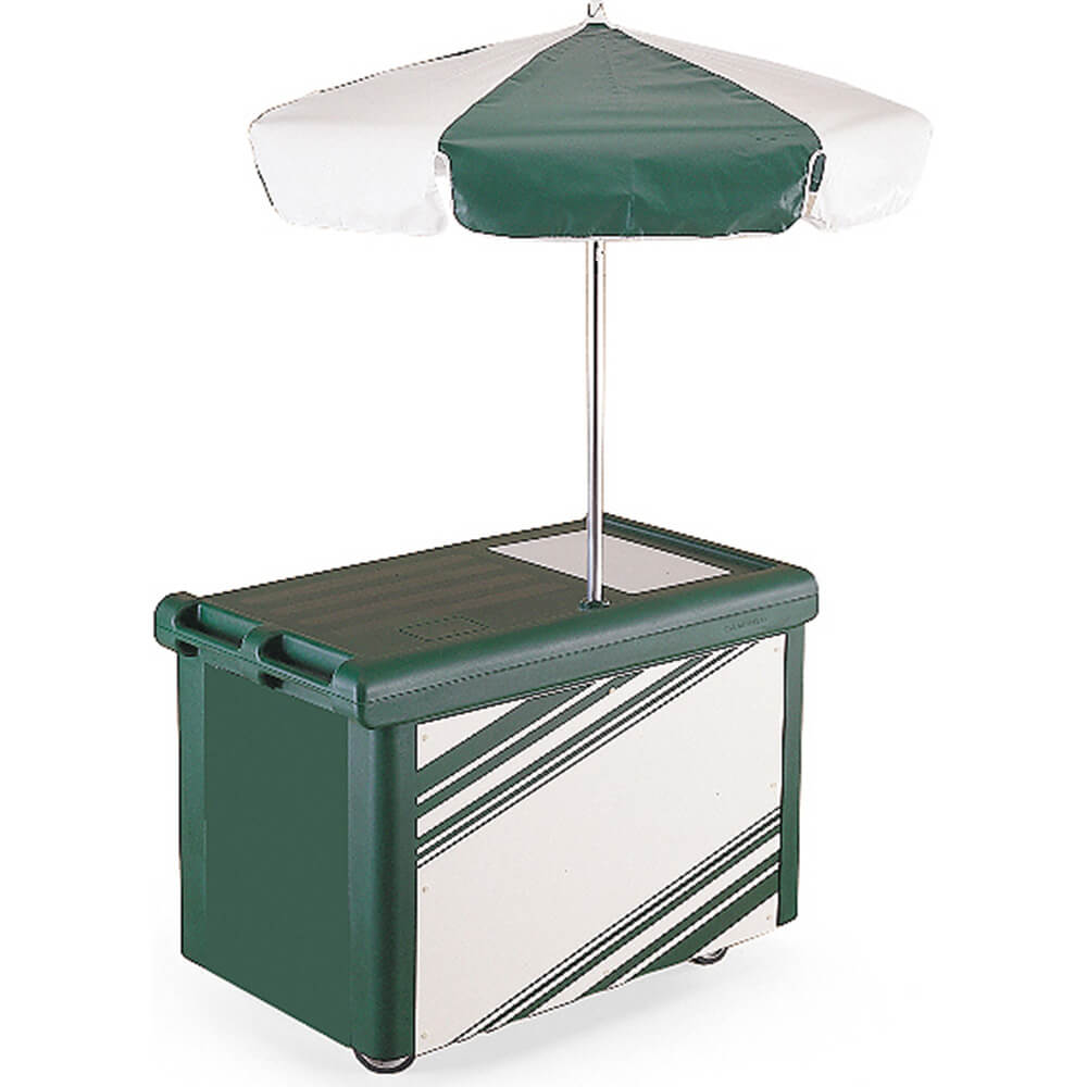 Green, Camcruiser Vending Cart with Umbrella