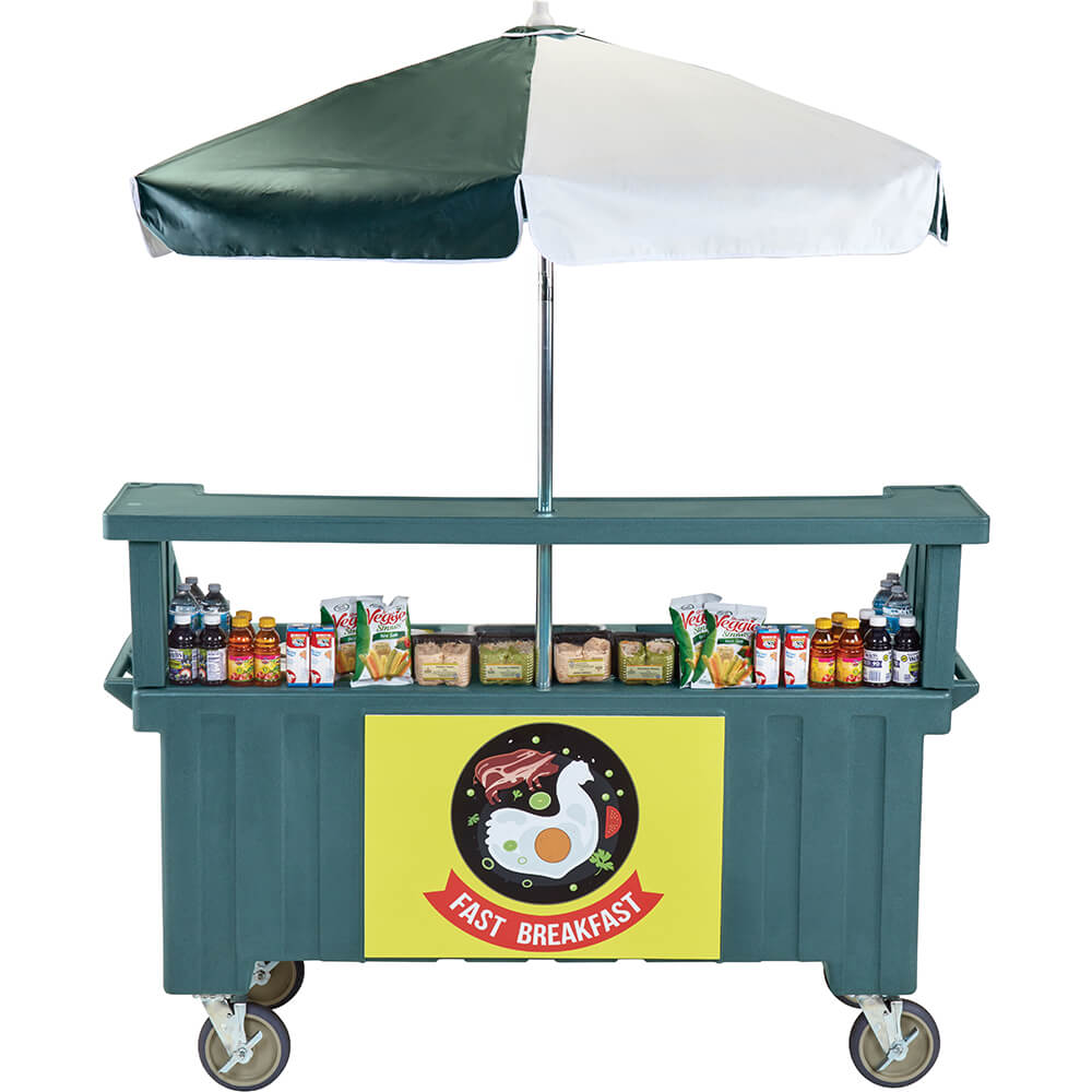 Granite Green, Vending Cart with Umbrella, 1 Pan, 6ft View 2
