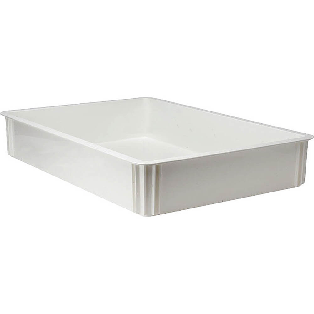 "White, Polycarbonate Pizza Dough Boxes, 3"" Deep, 6/PK"