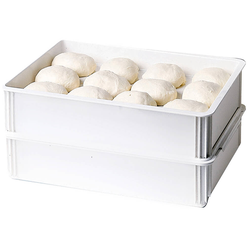 "White, Polycarbonate Pizza Dough Boxes, 6"" Deep, 6/PK View 2"