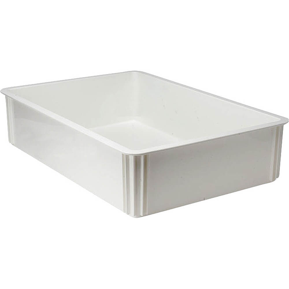 "White, Polycarbonate Pizza Dough Boxes, 6"" Deep, 6/PK"