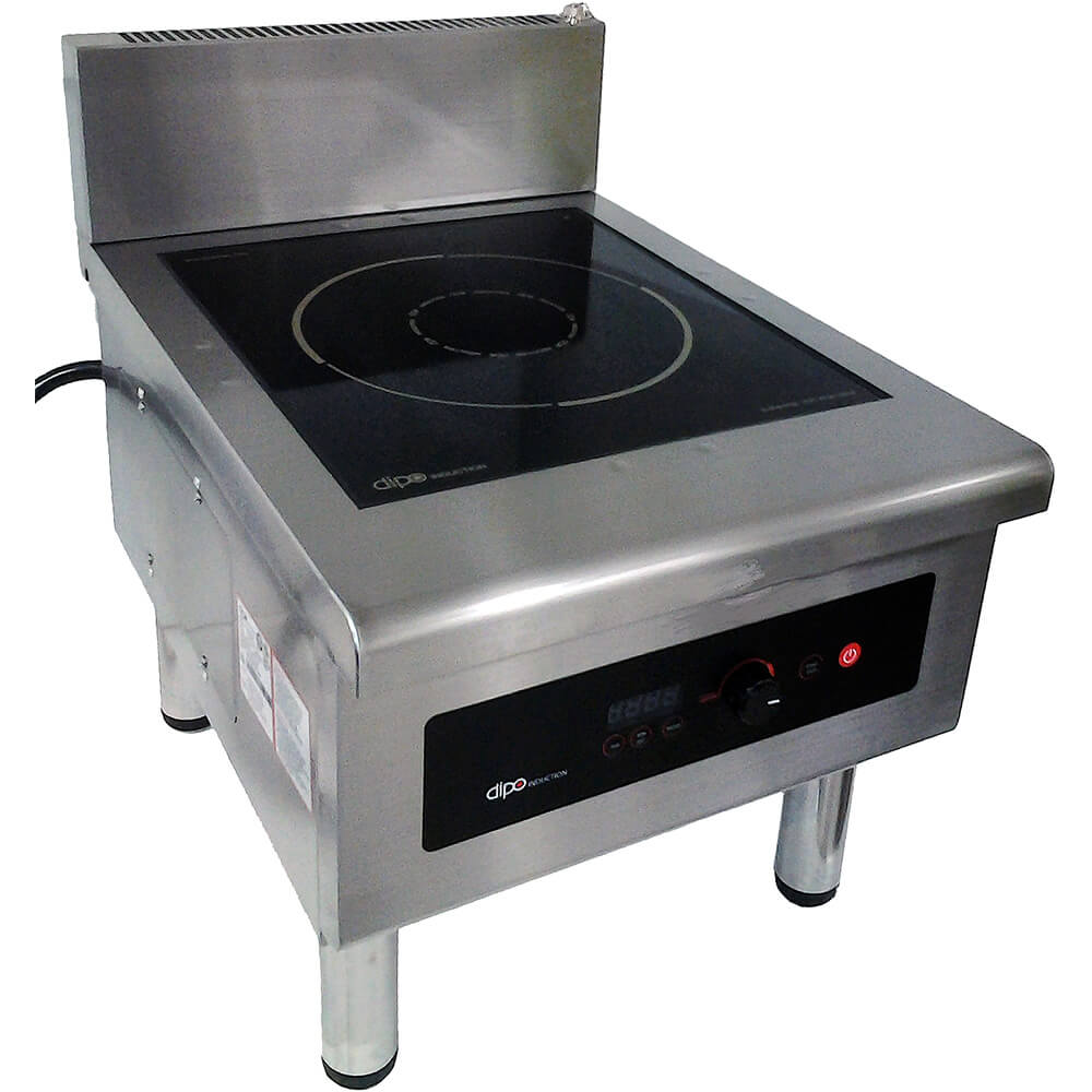 Stainless Steel, 6000W Free Standing Induction Stock Pot Range, External Temperature Probe