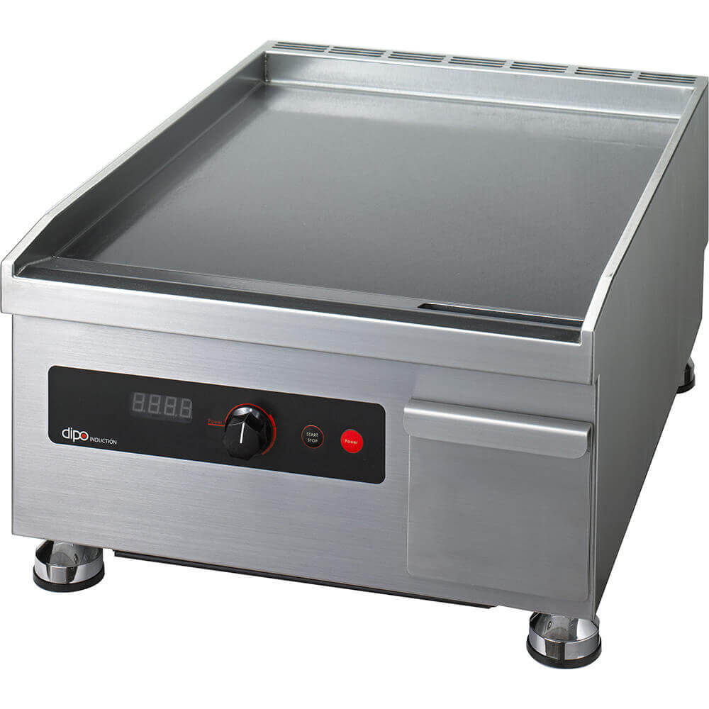 "Stainless Steel, 3500W Electric Induction Griddle, Single Zone 18"" Wide"