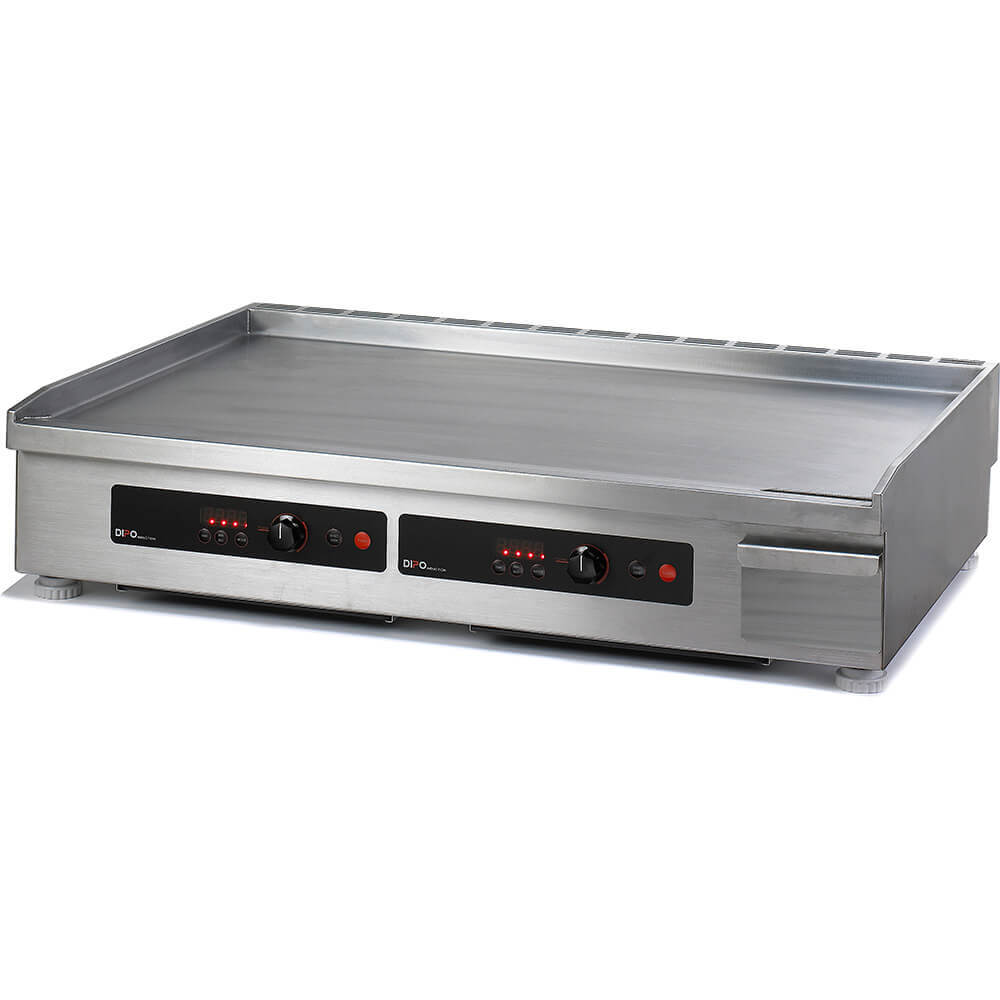 "Stainless Steel, 7000W Electric Induction Griddle, Two Zone, 36"" Wide"