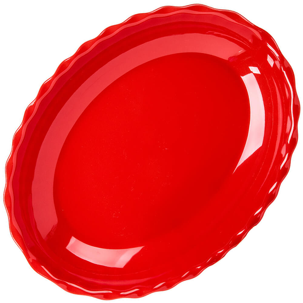 Red, Deli Platters, Oval, 6/PK View 2