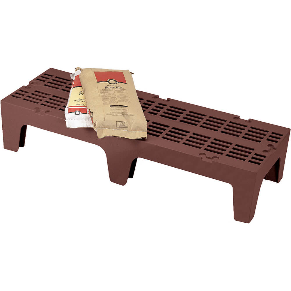 "Dark Brown, 48"" S-Series Dunnage Rack, Slotted Top"