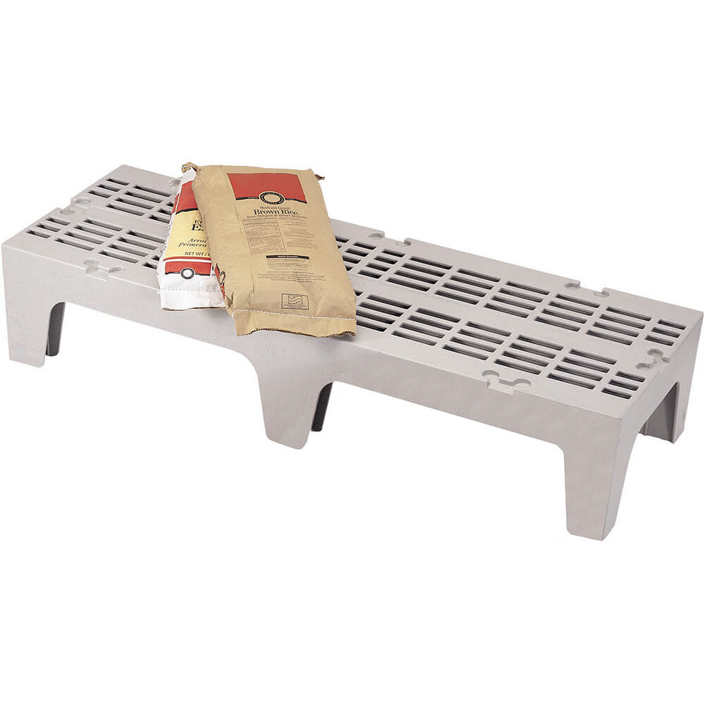 "Speckled Gray, 48"" S-Series Dunnage Rack, Slotted Top"