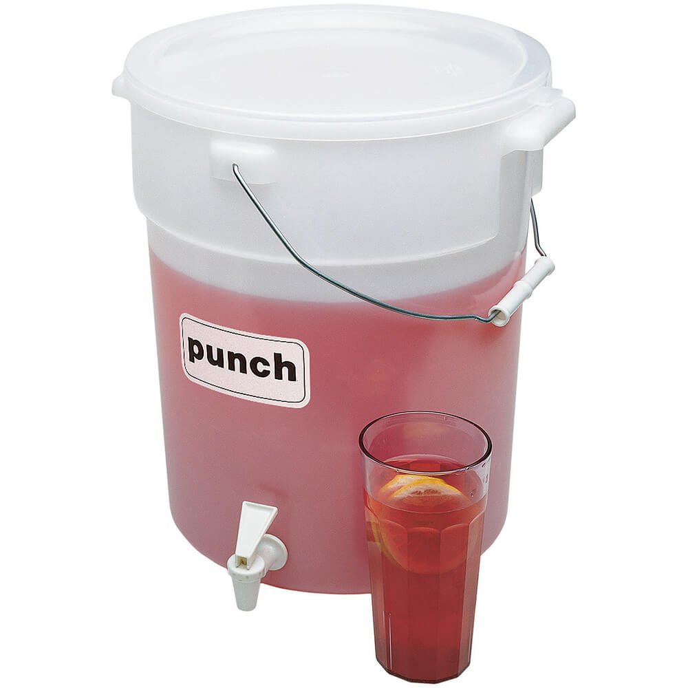 White, 6-Gallon Beverage Dispenser