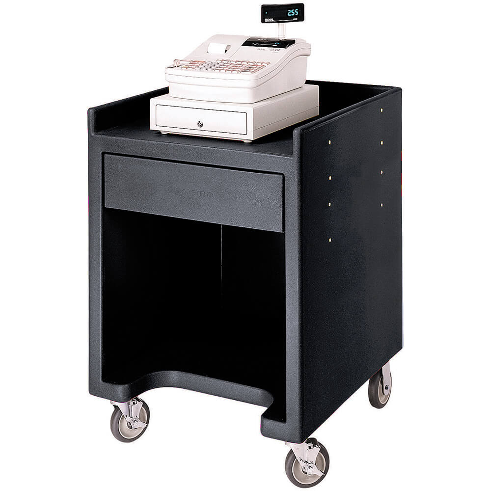 Black, Cash Register / Equipment Stand