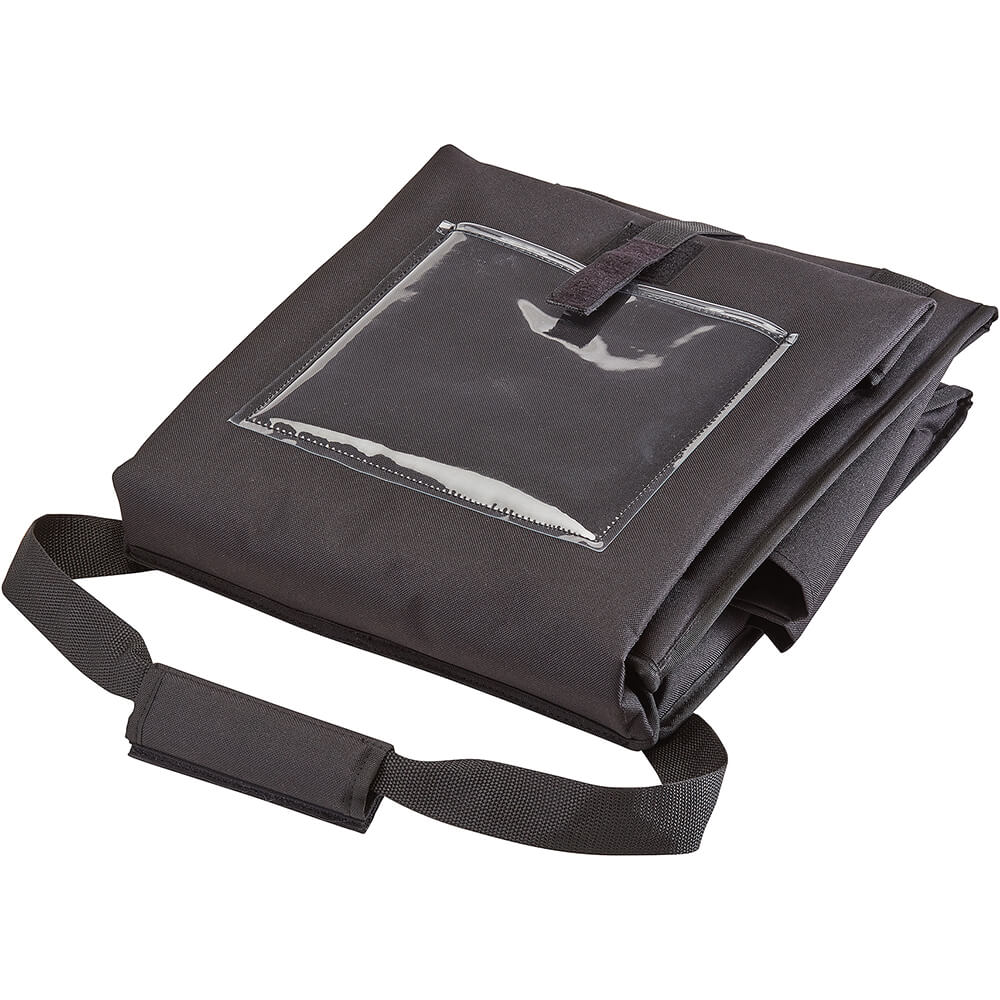 """Black, Nylon 12"""" X 15"""" X 15"""" Food Delivery Bag, Insulated Food Carrier, 4/PK View 2"""