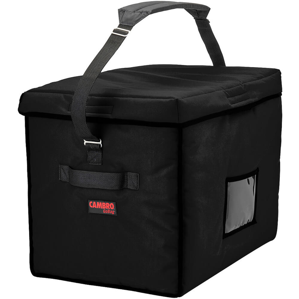 """Black, Nylon 21"""" X 15"""" X 17"""" Food Delivery Bag, Insulated Food Carrier, 4/PK"""