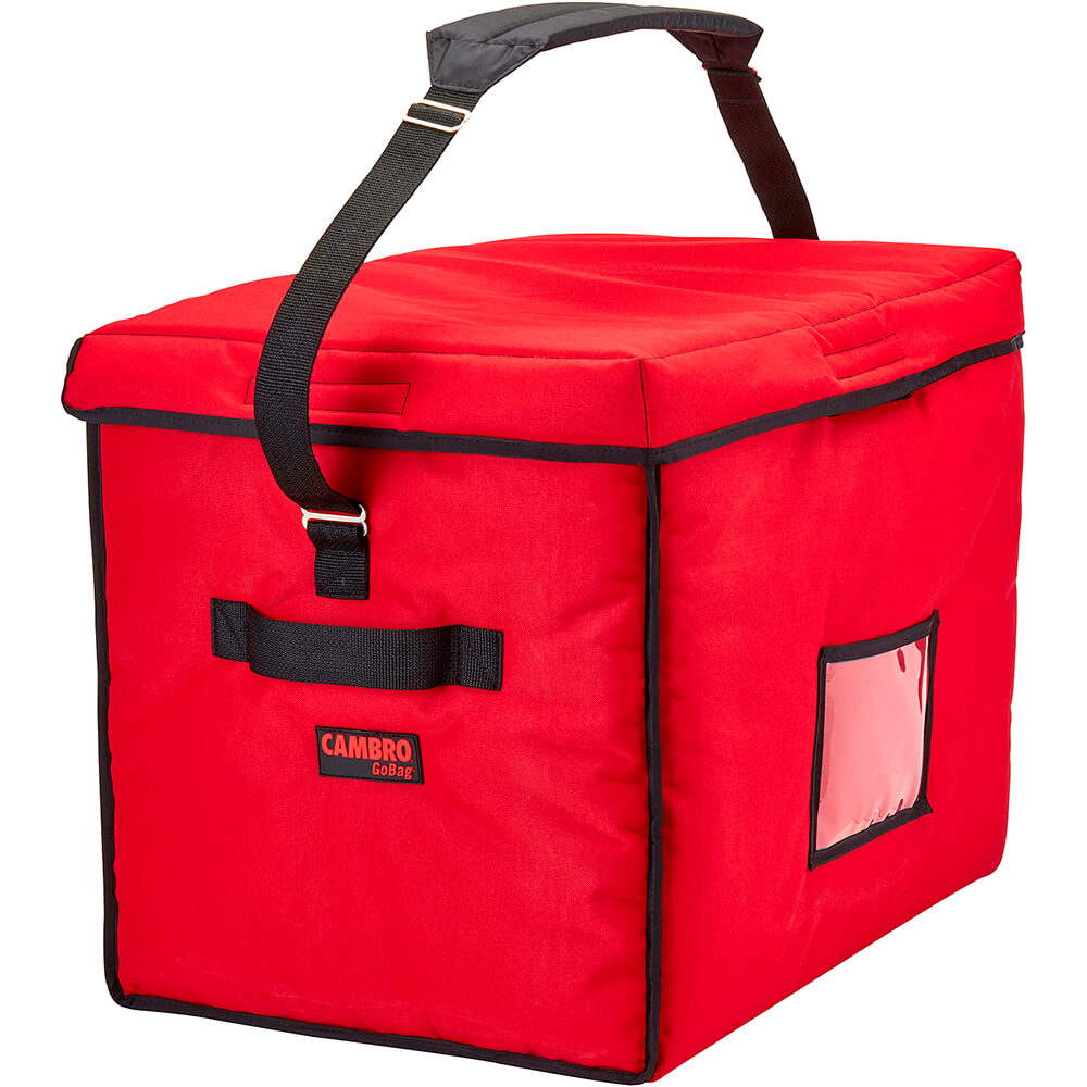 """Red, Nylon 21"""" X 15"""" X 17"""" Food Delivery Bag, Insulated Food Carrier"""