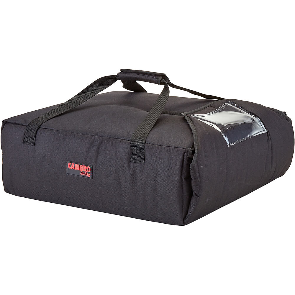 """Black, Polyester Insulated Pizza Bag, Food Delivery Bag Holds (2) 20"""" Or (3) 18"""" Pizza Boxes, 4/PK"""