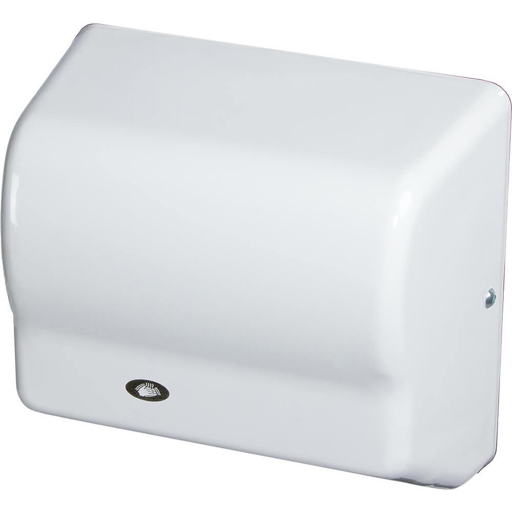 White, Automatic Hand Dryer, Flame Retardant ABS, 120V