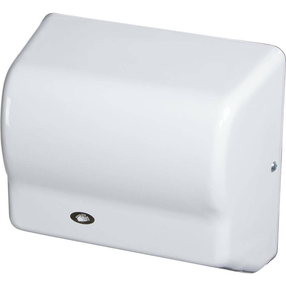 White, Automatic Hand Dryer, Flame Retardant ABS, 240V