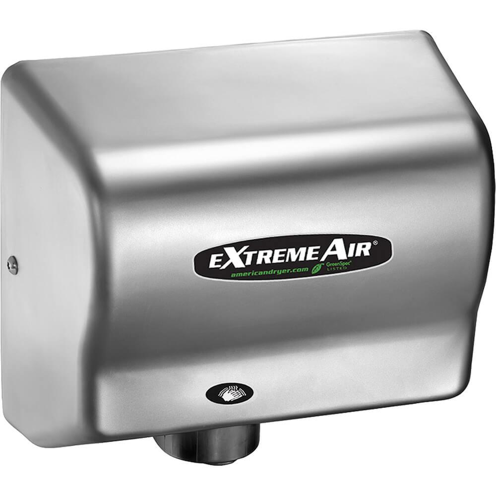 Steel Chrome, ExtremeAir GXT Heated Hand Dryer, 100-240V