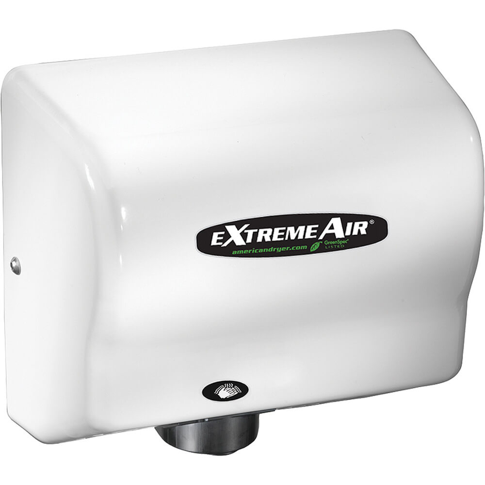 Steel White, ExtremeAir GXT Heated Hand Dryer, 100-240V