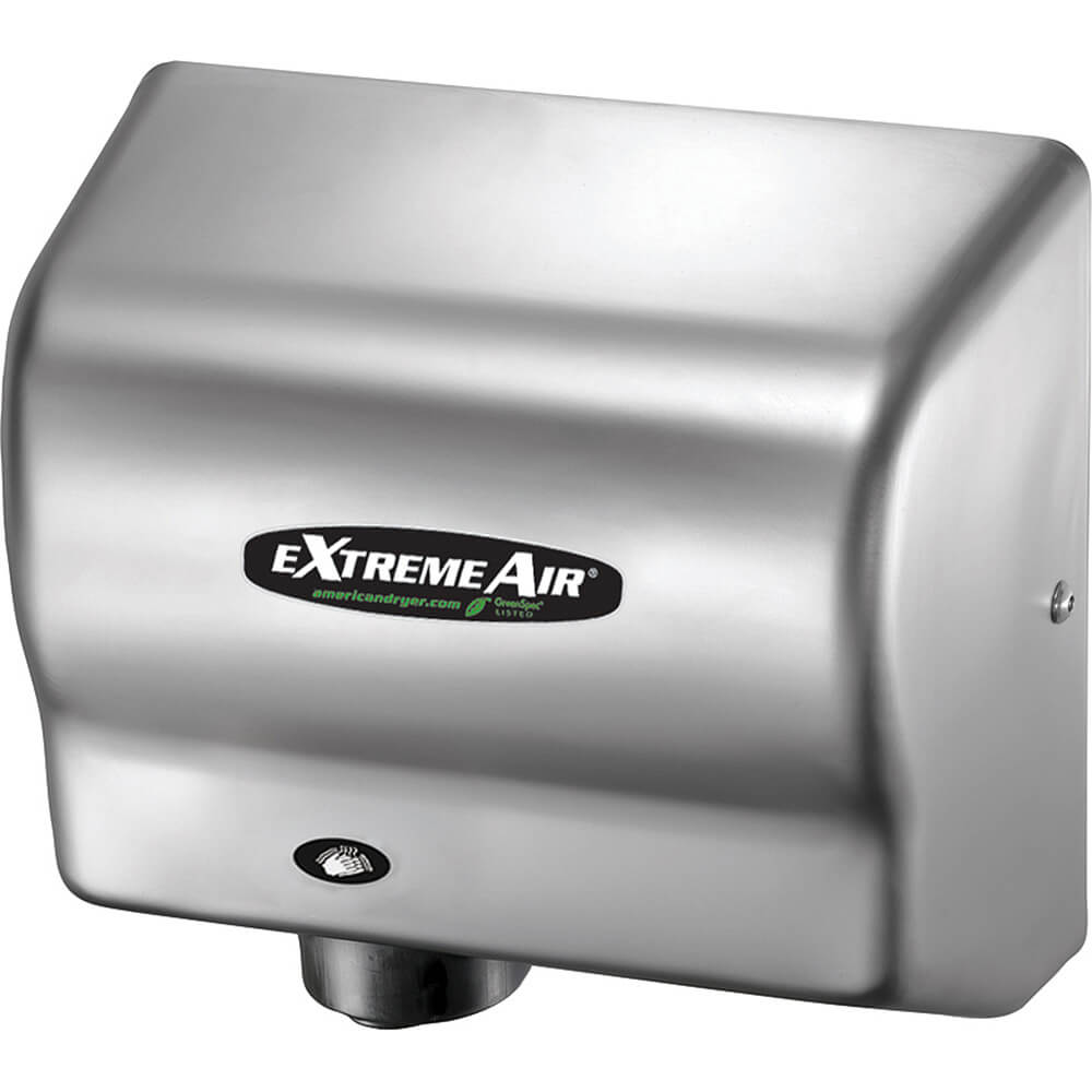 Stainless Steel, ExtremeAir GXT Heated Hand Dryer, 100-240V
