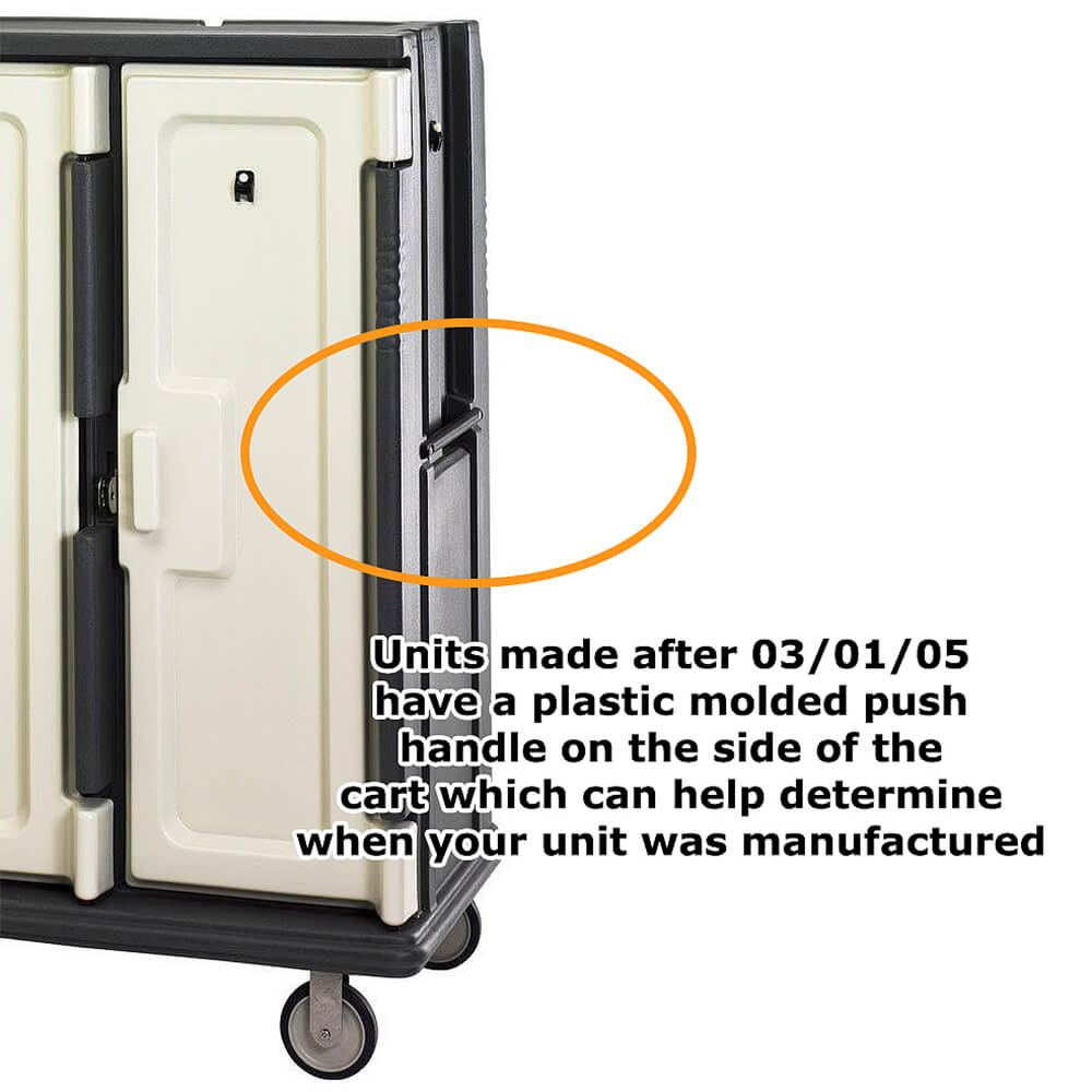 Left or Middle Door Kit for Meal Delivery Carts MDC1418T30, MDC1520T30 After 03/05 View 2