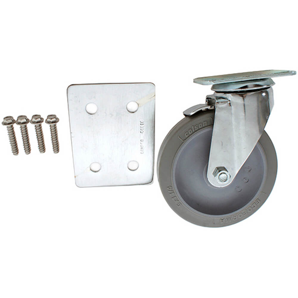 "1-5"" Swivel Caster w/Brake, 1-Impact Plate, 4- Screws"