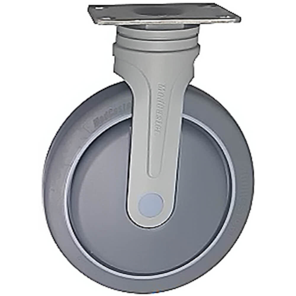 "6"" Fixed Nylon Caster, 4-Stainless Steel Bolts for Meal Delivery Carts"