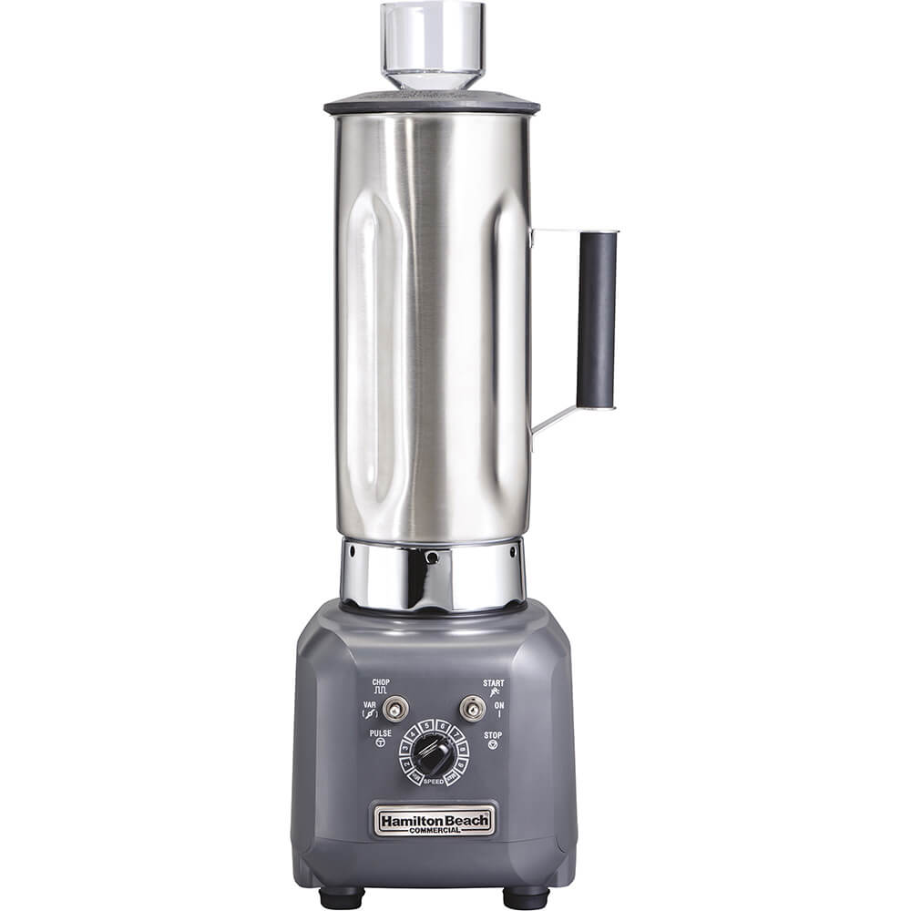 Stainless Steel, 64 Oz. Commercial Food Processor / Blender, 1 Hp Motor